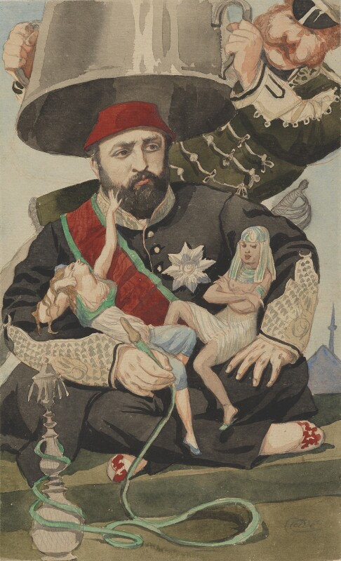 Abdul Aziz, by James Jacques Tissot, published in Vanity Fair 30 October 1869 - NPG 4707(1) - © National Portrait Gallery, London
