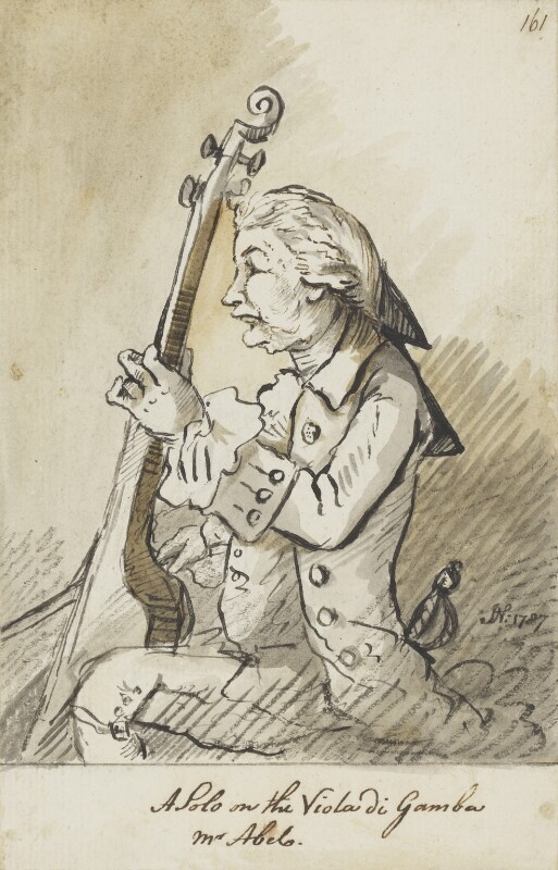 Karl Friedrich Abel, by John Nixon, 1787 -NPG 5178 - © National Portrait Gallery, London