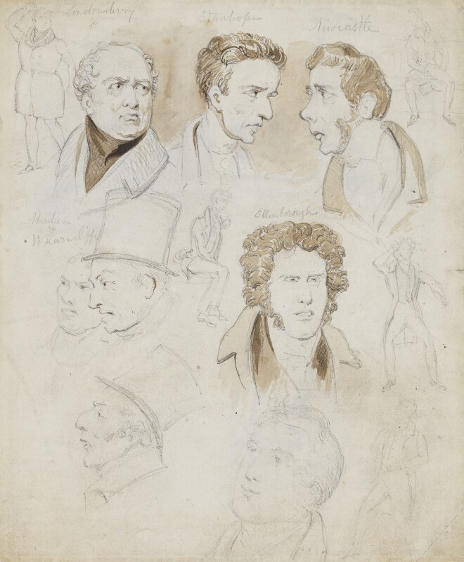 Members of the House of Lords, attributed to (Isaac) Robert Cruikshank, circa 1835 - NPG 2789 - © National Portrait Gallery, London