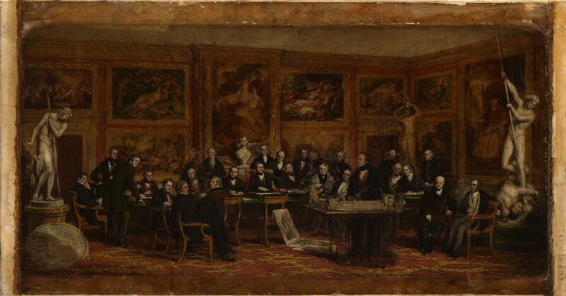 'The Fine Arts Commissioners, 1846', by John Partridge, circa 1846 -NPG 343a -