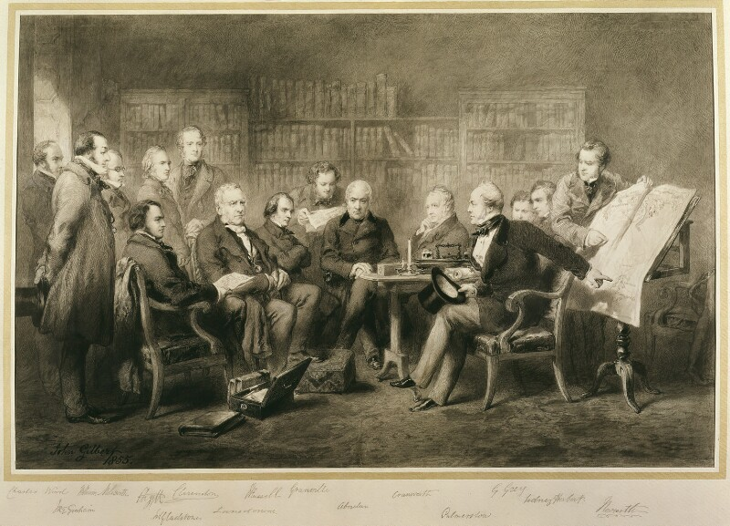 The Coalition Ministry, 1854, by Sir John Gilbert, 1855 - NPG 1125 - © National Portrait Gallery, London