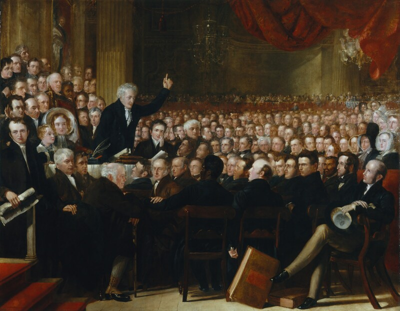 The Anti-Slavery Society Convention, 1840, by Benjamin Robert Haydon, 1841 -NPG 599 - © National Portrait Gallery, London