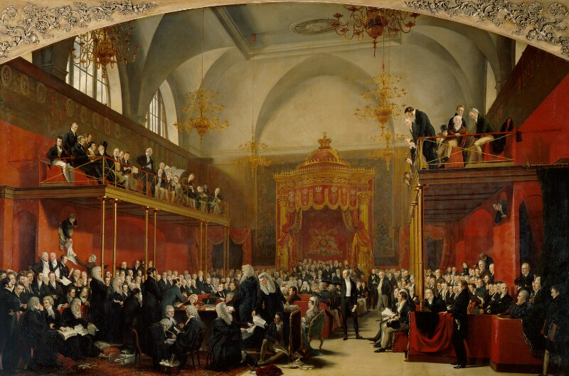The Trial of Queen Caroline 1820, by Sir George Hayter, 1820-1823 -NPG 999 - © National Portrait Gallery, London