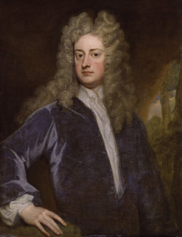 Joseph Addison, by Sir Godfrey Kneller, Bt, circa 1712 - NPG 3193 - © National Portrait Gallery, London