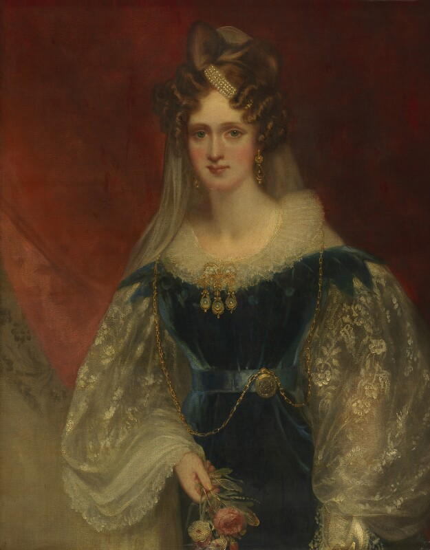 Queen Adelaide (Princess Adelaide of Saxe-Meiningen), by Sir William Beechey, circa 1831 - NPG 1533 - © National Portrait Gallery, London