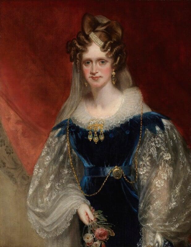 Queen Adelaide (Princess Adelaide of Saxe-Meiningen), by Sir William Beechey, circa 1831 - NPG 1533 - © National Portrait Gallery, London