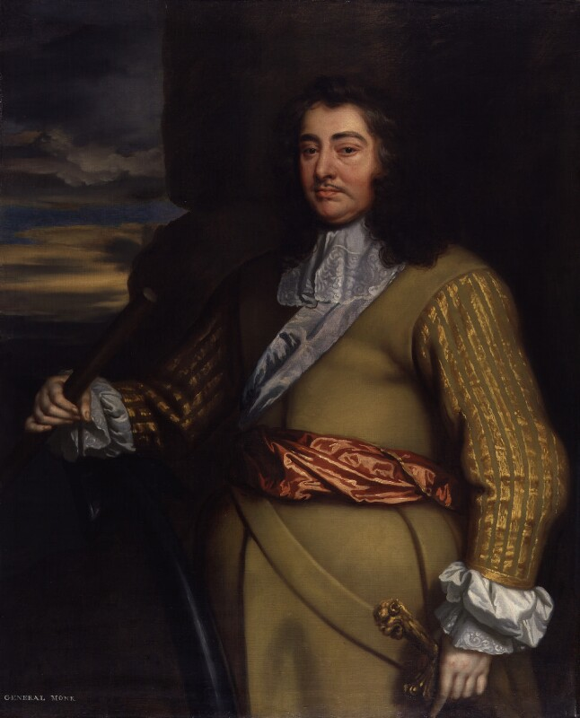 George Monck, 1st Duke of Albemarle, studio of Sir Peter Lely, based on a work of circa 1665-1666 - NPG 423 - © National Portrait Gallery, London