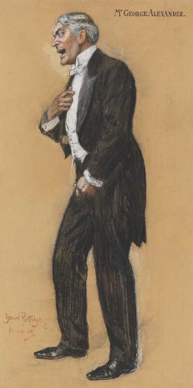 Sir George Alexander (George Samson), by Bernard Partridge, 1909 - NPG 3663 - © National Portrait Gallery, London