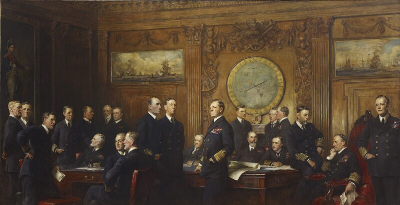 Naval Officers of World War I, by Sir Arthur Stockdale Cope, 1921 -NPG 1913 - © National Portrait Gallery, London