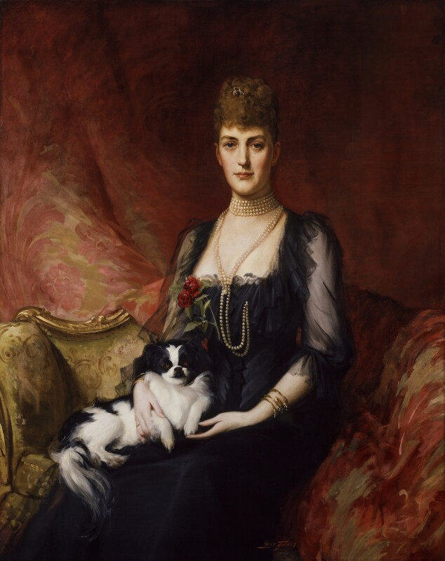Queen Alexandra, after Luke Fildes, 1920, based on a work of 1894 - NPG 1889 - © National Portrait Gallery, London