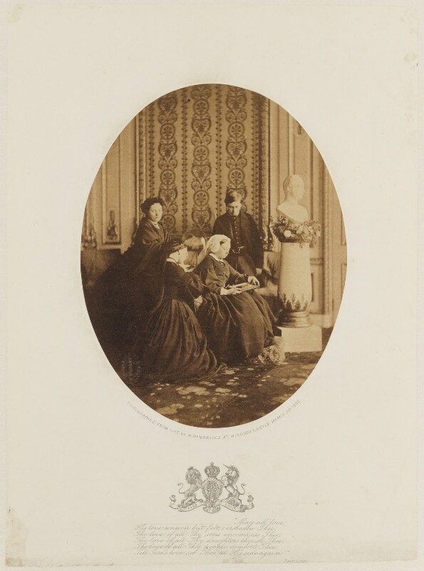 Royal mourning group, 1862, by William Bambridge, March 1862 - NPG P27 - © National Portrait Gallery, London