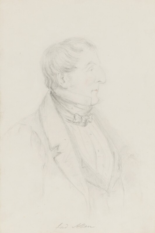 Joshua William Allen, 6th Viscount Allen, by Alfred, Count D'Orsay, circa 1832-1848 - NPG 4026(2) - © National Portrait Gallery, London