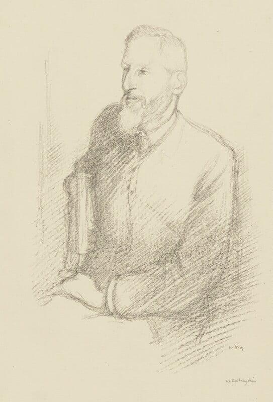 (Charles) Grant Blairfindie Allen, by William Rothenstein, 1897 - NPG 3998 - © National Portrait Gallery, London