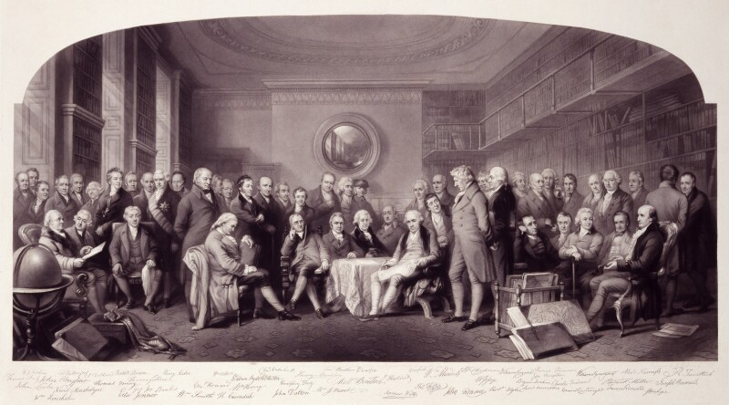 Engraving after 'Men of Science Living in 1807-8', by George Zobel; William Walker, 1862 -NPG 1075a -