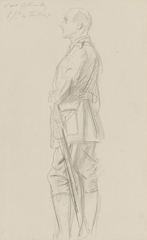Edmund Henry Hynman Allenby, 1st Viscount Allenby, by John Singer Sargent, circa 1922 - NPG 2908(12) - © National Portrait Gallery, London