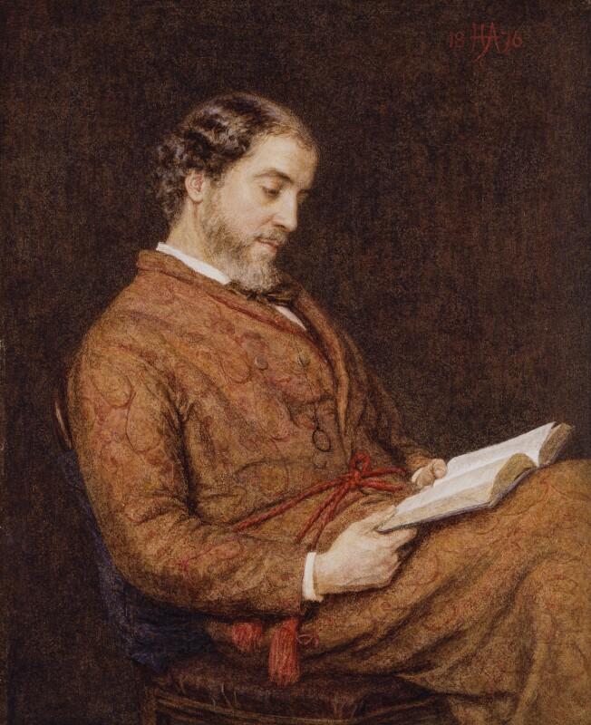 William Allingham, by Helen Allingham, 1876 - NPG 1647 - © National Portrait Gallery, London