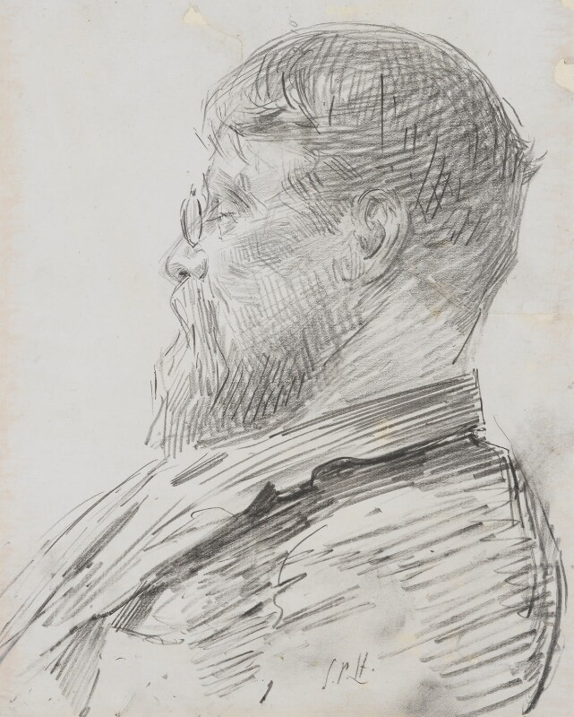 Sir Lawrence Alma-Tadema, by Sydney Prior Hall, circa 1895 - NPG 4388 - © National Portrait Gallery, London
