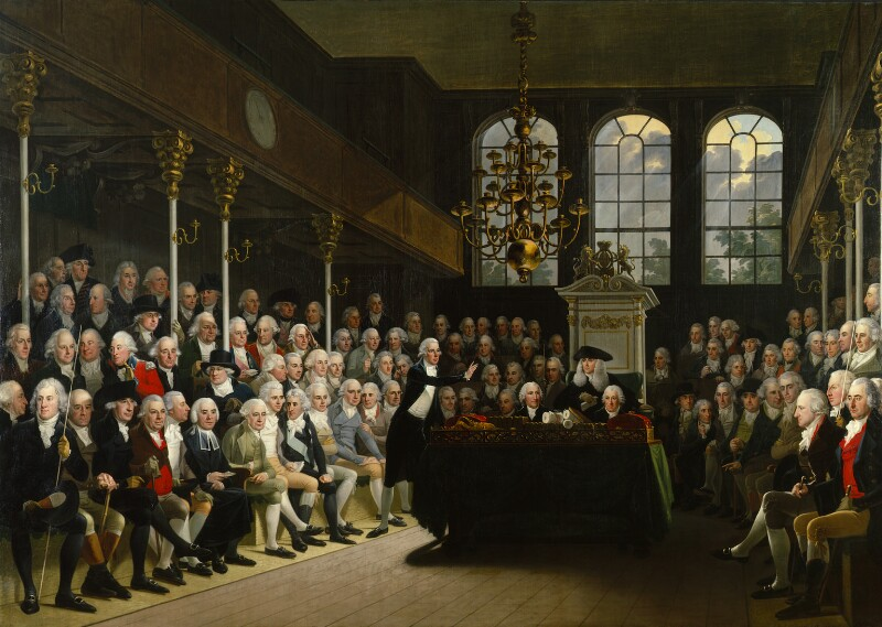 The House of Commons 1793-94, by Karl Anton Hickel, 1793-1795 -NPG 745 - © National Portrait Gallery, London