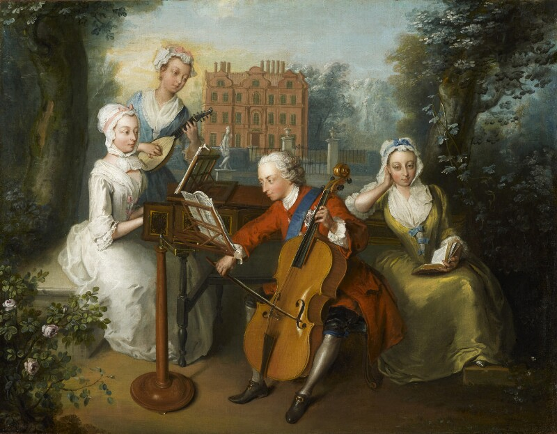 'The Music Party', by Philip Mercier, 1733 -NPG 1556 - © National Portrait Gallery, London