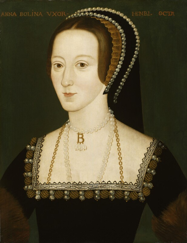Anne Boleyn, by Unknown English artist, late 16th century, based on a work of circa 1533-1536 - NPG 668 - © National Portrait Gallery, London