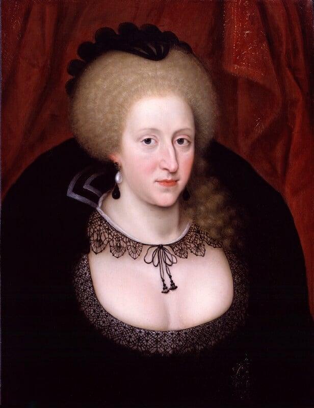 Anne of Denmark, by Unknown artist, circa 1628-1644 - NPG 4656 - © National Portrait Gallery, London