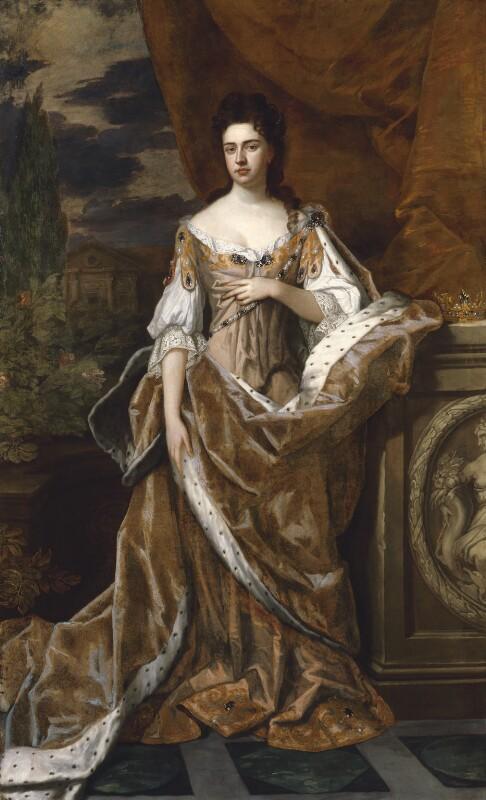 Queen Anne, by Sir Godfrey Kneller, Bt, circa 1690 -NPG 1616 -