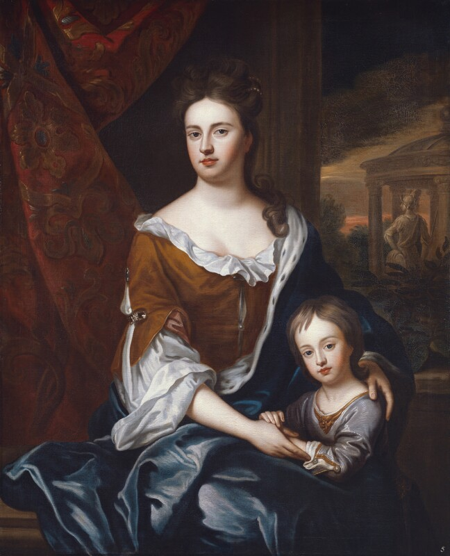 Queen Anne; William, Duke of Gloucester, studio of Sir Godfrey Kneller, Bt, based on a work of circa 1694 - NPG 5227 - © National Portrait Gallery, London