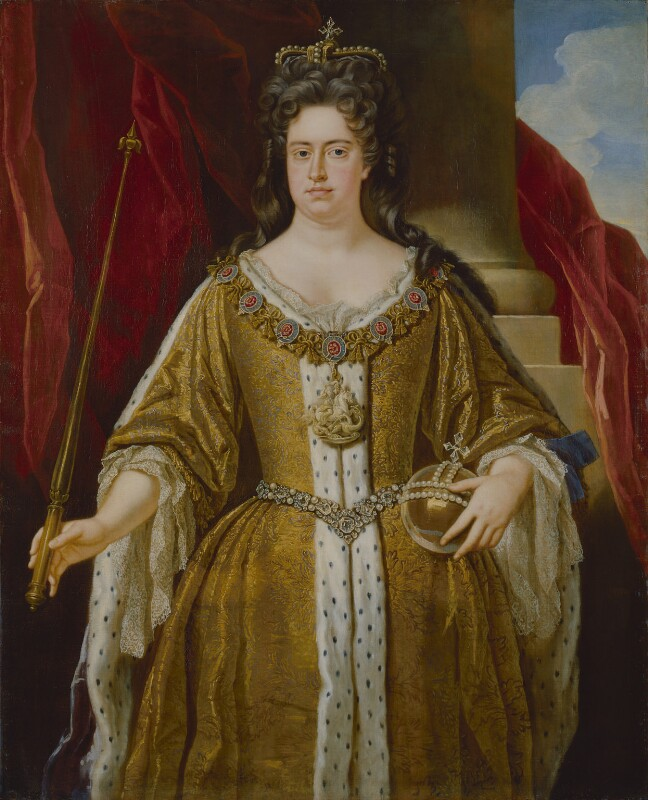 Queen Anne, by John Closterman, circa 1702, based on a work of circa 1702 -NPG 215 - © National Portrait Gallery, London