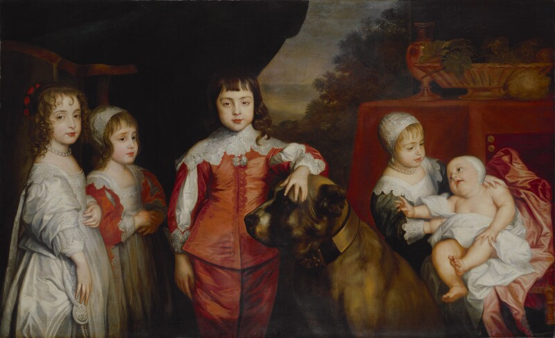 Five Children of King Charles I, by Sir Anthony van Dyck, 17th century, based on a work of 1637 -NPG 267 - © National Portrait Gallery, London
