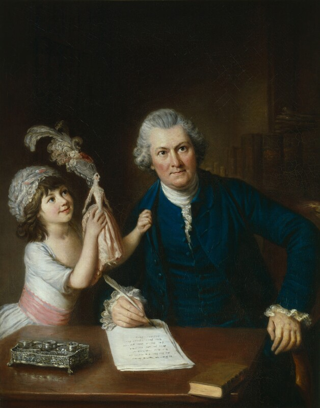 Christopher Anstey with his daughter, by William Hoare, circa 1775 -NPG 3084 - © National Portrait Gallery, London