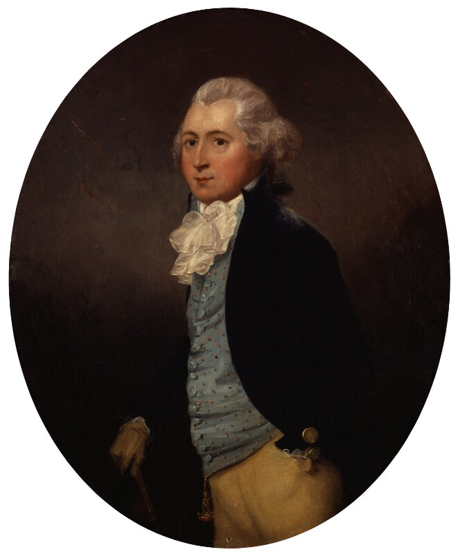 Unknown man, formerly known as Christopher Anstey, attributed to Francis Alleyne, circa 1790 - NPG 1339 - © National Portrait Gallery, London