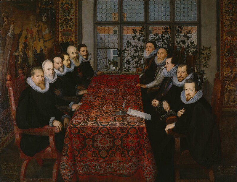 The Somerset House Conference, 1604, by Unknown artist, 1604 - NPG 665 - © National Portrait Gallery, London
