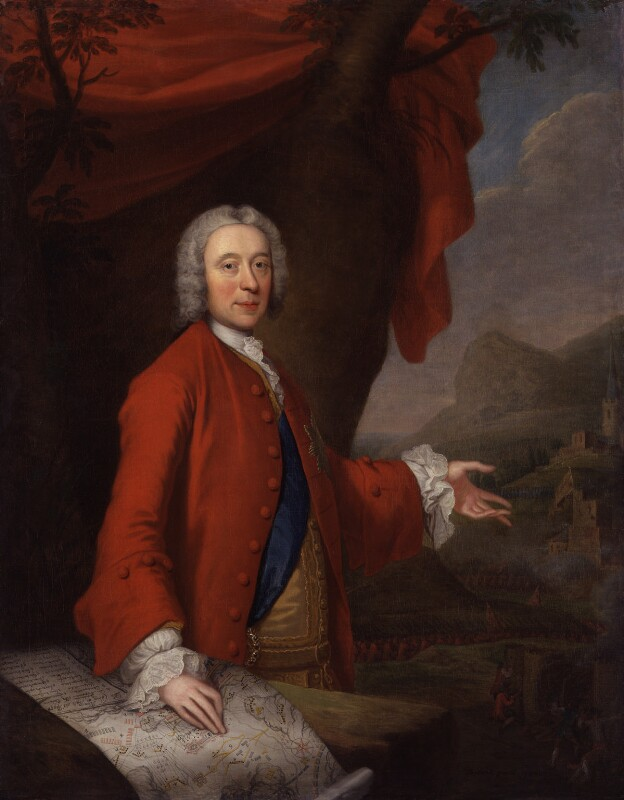 John Campbell, 2nd Duke of Argyll and Greenwich, by Thomas Bardwell, 1740 - NPG 3110 - © National Portrait Gallery, London