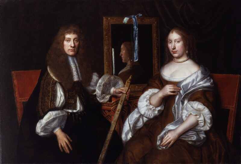Archibald Campbell, 9th Earl of Argyll; Lady Anne (née Mackenzie), Countess of Argyll, by Unknown artist, 1660s - NPG 3902 - © National Portrait Gallery, London