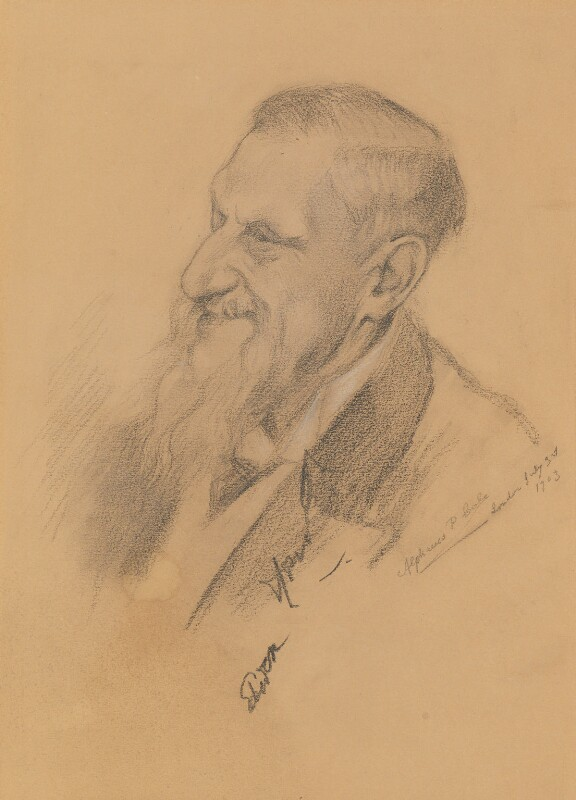 Sir Edwin Arnold, by Alphaeus Philemon Cole, 1903 - NPG 2455 - © reserved; collection National Portrait Gallery, London