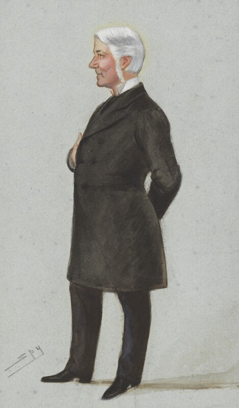 Edward Gibson, 1st Baron Ashbourne, by Sir Leslie Ward, published in Vanity Fair 4 July 1885 - NPG 3932 - © National Portrait Gallery, London