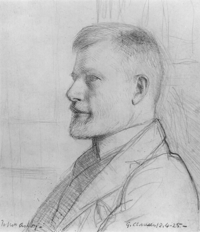 Thomas Ashby, by Sir George Clausen, 1925 - NPG 3169 - © National Portrait Gallery, London