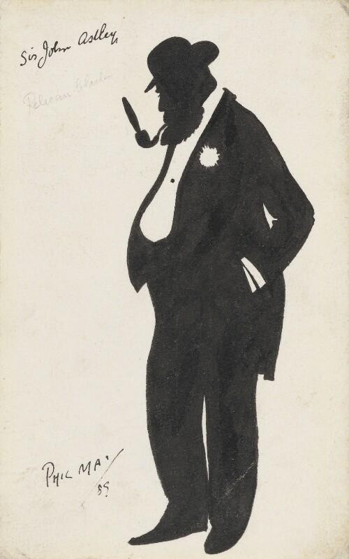 Sir John Dugdale Astley, 3rd Bt, by Phil May, 1889 - NPG 3173 - © National Portrait Gallery, London
