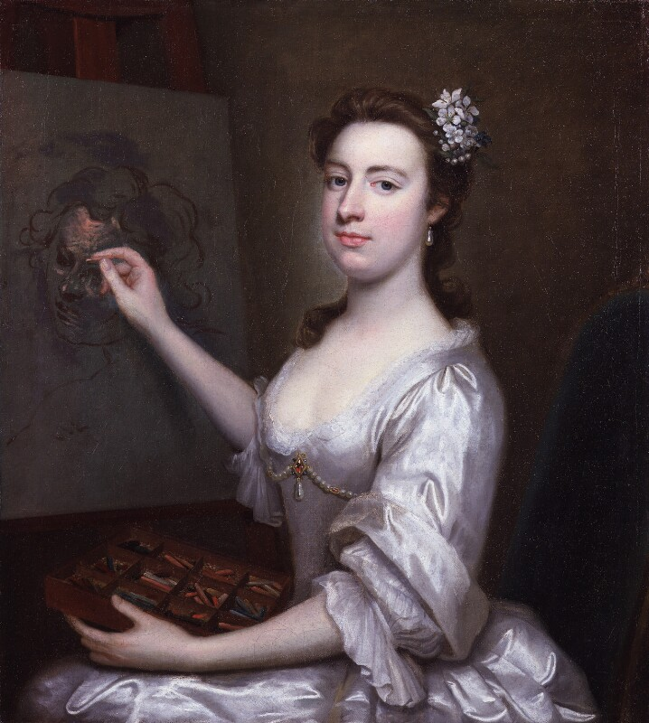 Rhoda (née Delaval), Lady Astley, attributed to Arthur Pond, circa 1750 - NPG 5253 - © National Portrait Gallery, London