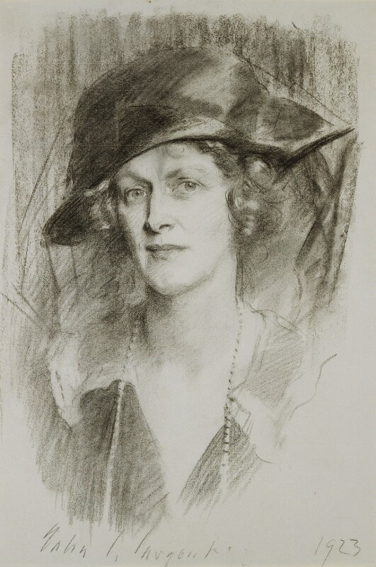 Nancy Astor, Viscountess Astor, by John Singer Sargent, 1923 - NPG 4885 - © National Portrait Gallery, London
