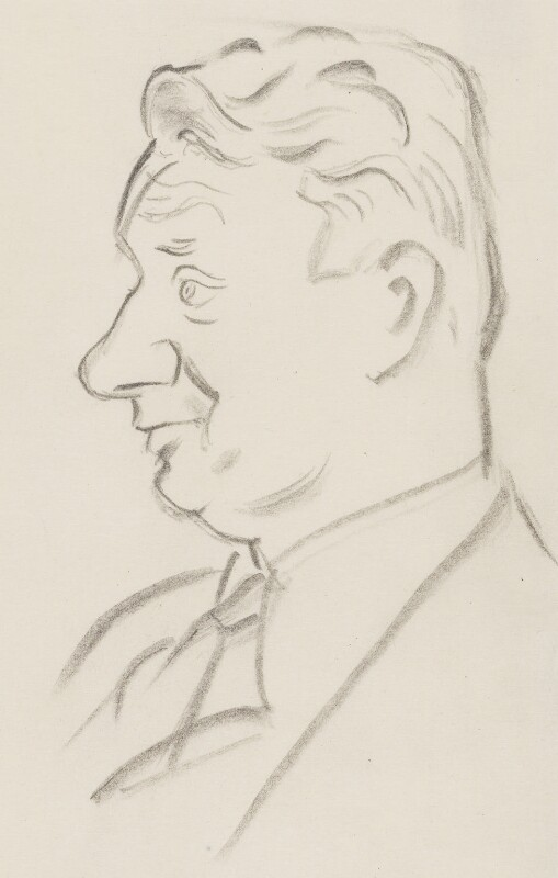(Francis) David Langhorne Astor, by Sir David Low, 1950s? - NPG 4529(3) - © Solo Syndication Ltd