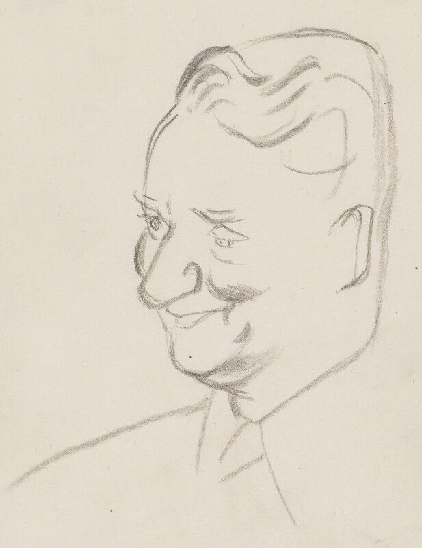 (Francis) David Langhorne Astor, by Sir David Low, 1950s? - NPG 4529(6) - © Solo Syndication Ltd