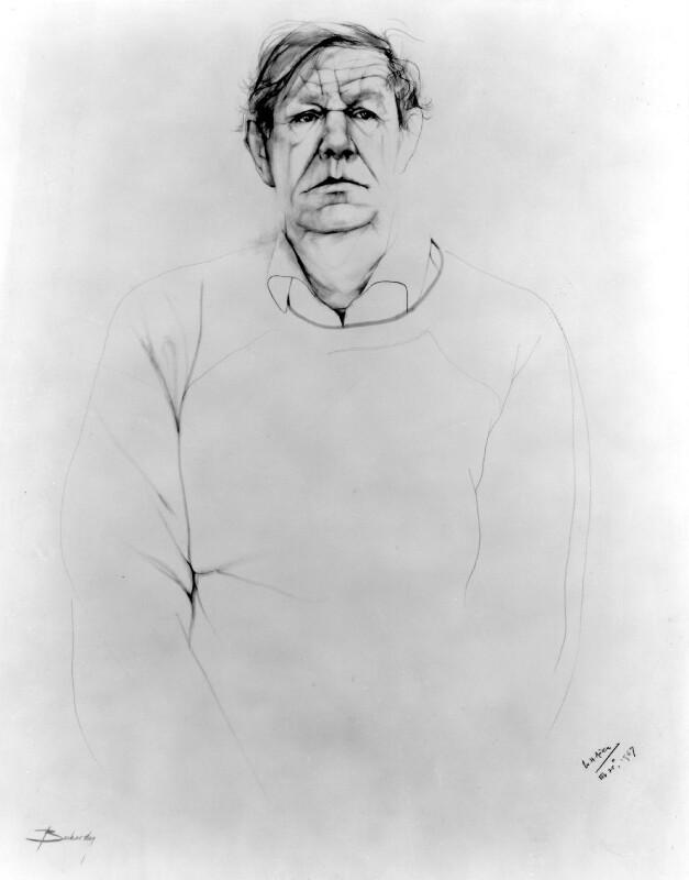 W.H. Auden, by Don Bachardy, 1967 - NPG 4677 - © Don Bachardy