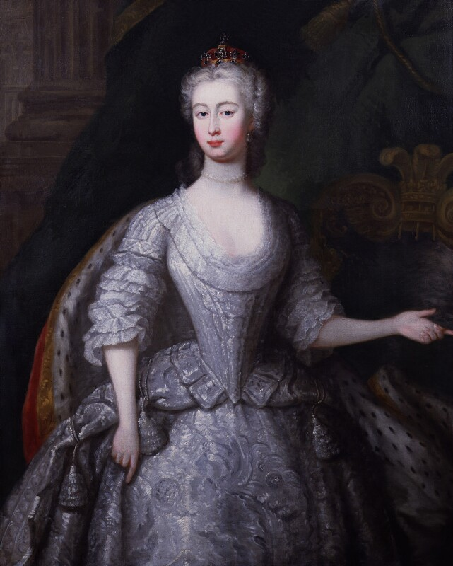 Augusta of Saxe-Gotha, Princess of Wales, by Charles Philips, circa 1736 -NPG 2093 - © National Portrait Gallery, London