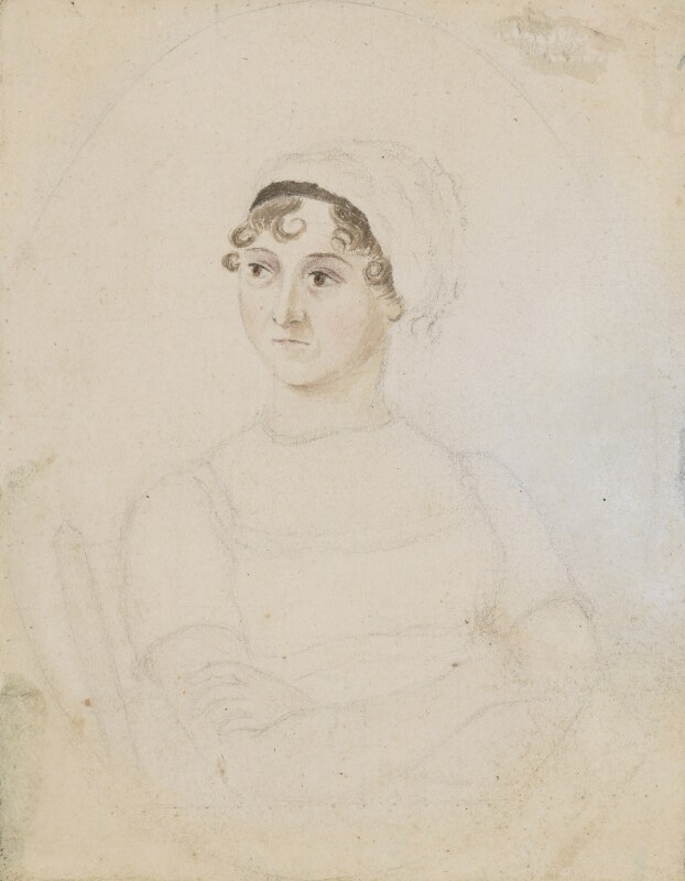 Jane Austen, by Cassandra Austen, circa 1810 - NPG 3630 - © National Portrait Gallery, London