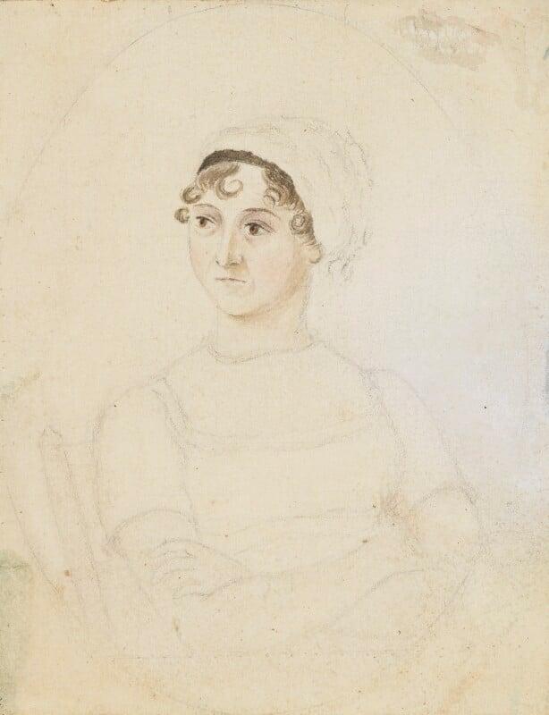 Jane Austen, by Cassandra Austen, circa 1810 - NPG 3630 - © National Portrait Gallery, London