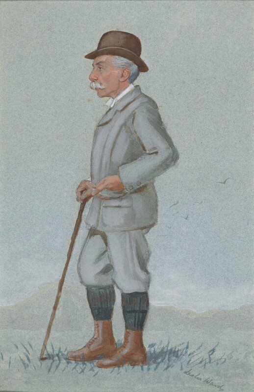 Alfred Austin, by Sir Leslie Ward, variant of drawing published in Vanity Fair 20 February 1896 - NPG 4845 - © National Portrait Gallery, London