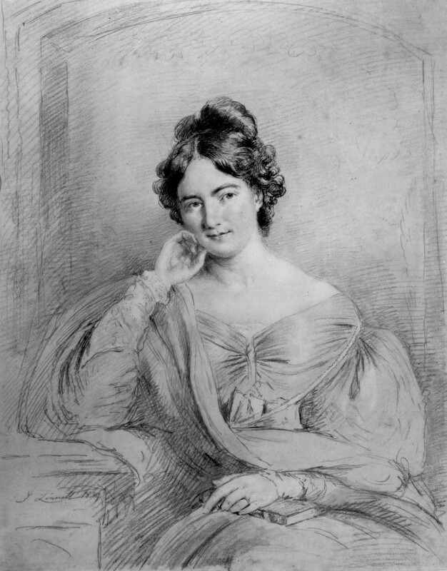 Sarah Austin (née Taylor), by John Linnell, 1834 - NPG 672 - © National Portrait Gallery, London