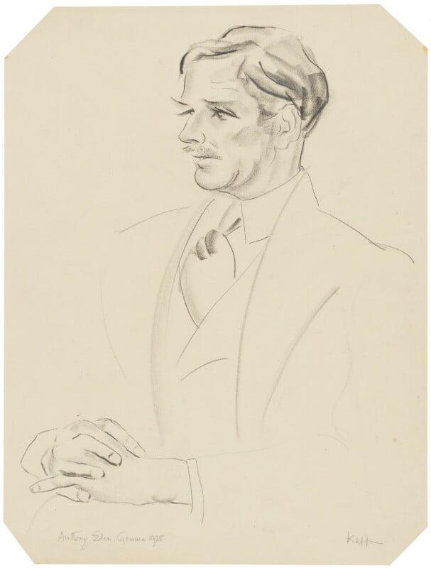 Anthony Eden, 1st Earl of Avon, by Edmond Xavier Kapp, 1935 - NPG 4907 - © estate of Edmond Xavier Kapp / National Portrait Gallery, London
