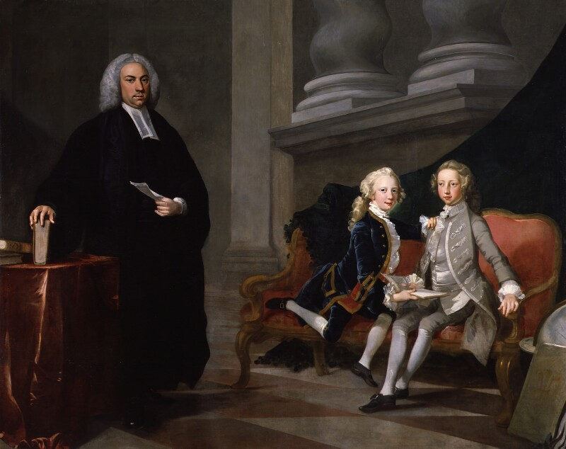 Francis Ayscough with the Prince of Wales (later King George III) and Edward Augustus, Duke of York and Albany, by Richard Wilson, circa 1749 - NPG 1165 - © National Portrait Gallery, London